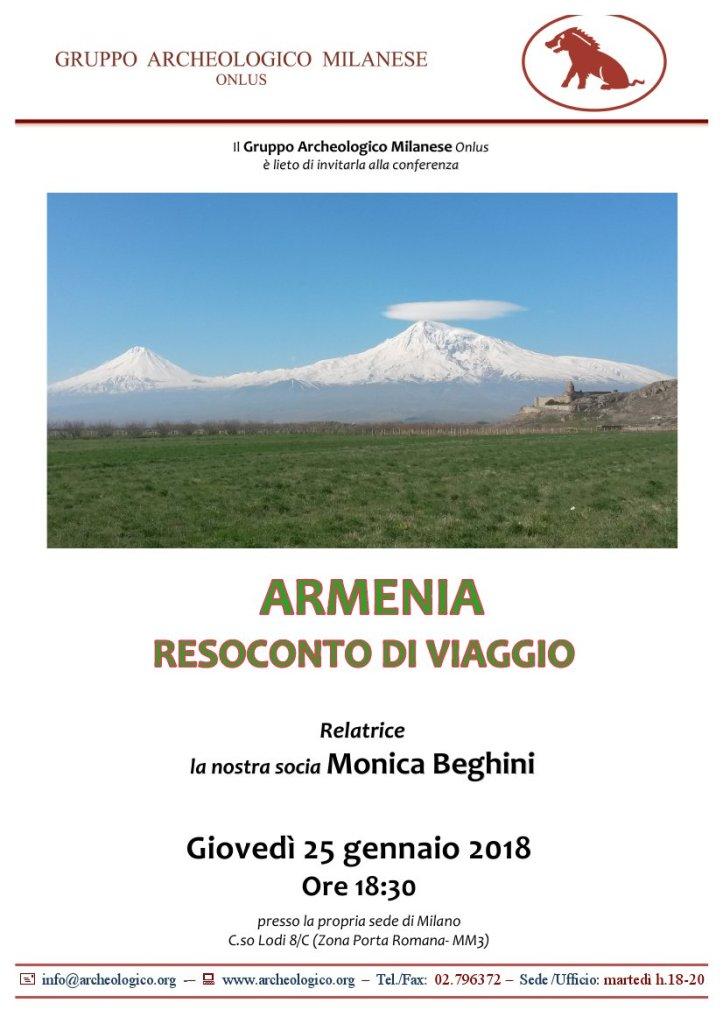 Conf 2018 01 25 h18.30_Resoconto viaggio Armenia_Beghini M