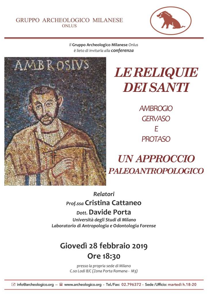 Conf 2019 02 28 h18.30_Le reliquie di San ... _Cattaneo C