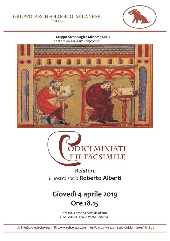 Conf 2019 04 04 h18.15_Codici miniati e il facsimile_Alberti R