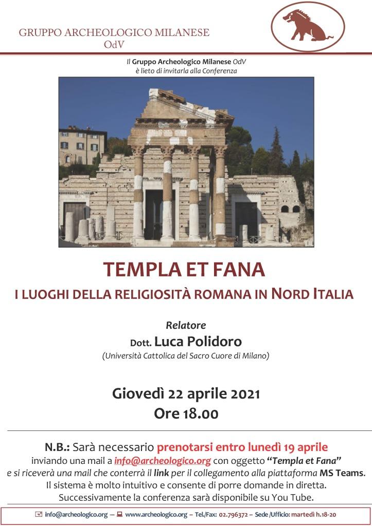 Locandina Templa et Fana copia